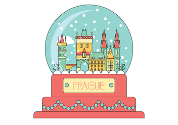 Prague Snow Globe Vector - Free vector #430299