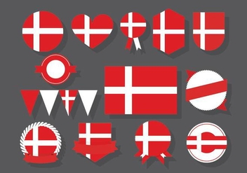 Danish Badges - vector #430329 gratis