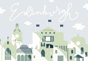 Vector Illustration of Edinburgh City - Free vector #430339