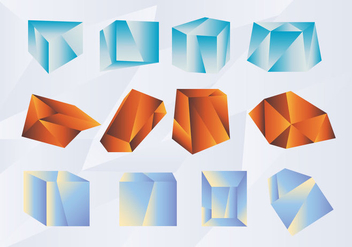 Abstract Shape Gradient Prisma Vector Pack - Free vector #430419