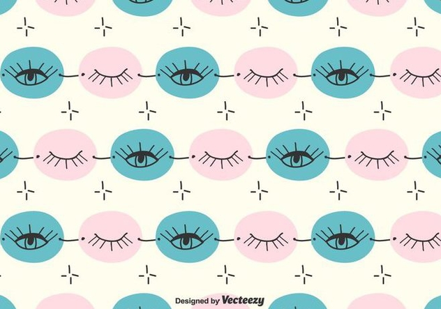 Doodle Eye Pattern - Free vector #430429