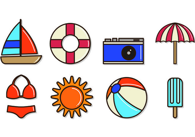 Set Of Playa Icons - vector gratuit #430449