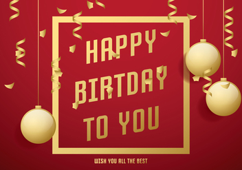 Red Birthday Card - vector gratuit #430469