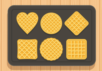 Waffles Set Free Vector - бесплатный vector #430489