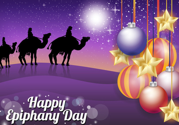 Epiphany Day With Three Kings In The Dessert - Free vector #430509