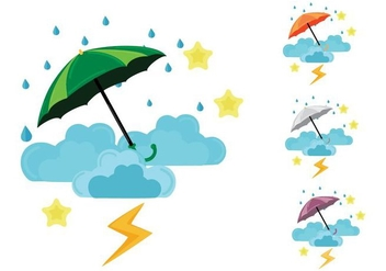 Free Monsoon Season Rainy Vector Illustration - Free vector #430519