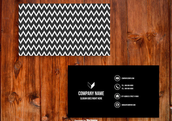 Black and White Chevron Business Card Template - vector #430549 gratis