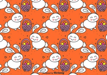 Easter Bunny Vector Pattern - Free vector #430559