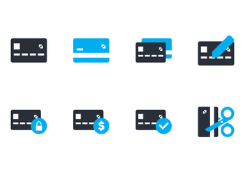 Credit Card Flat Icon - vector gratuit #430569