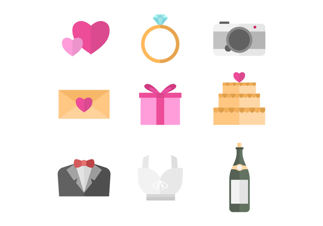 Free Wedding Vector Icons - vector gratuit #430579