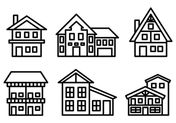 Free Chalet Icons Vector - Free vector #430609