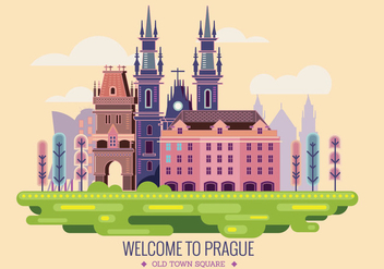 Welcome to Prague Vector - vector #430669 gratis