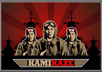 Kamikaze Army Vector Background - vector gratuit #430689