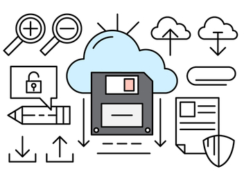 Cloud Computing Linear Icons - vector gratuit #430699