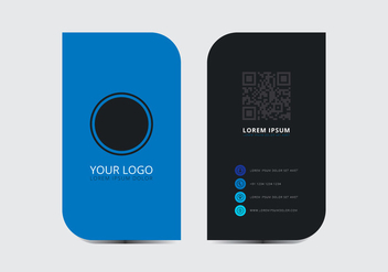 Blue Stylish Business Card Template - vector gratuit #430709