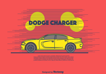 Dodge Charger Vector Background - vector #430799 gratis