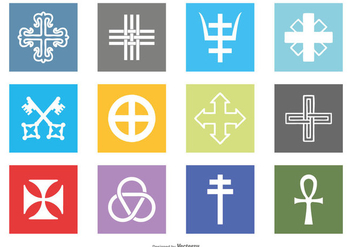 Religious Symbols Icon Set - Free vector #430829