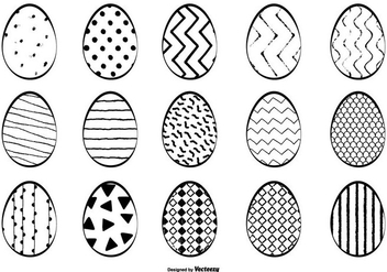 Hand Drawn Easter Egg Collection - Kostenloses vector #430839