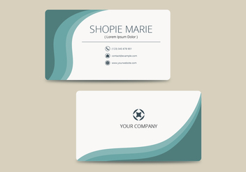 Teal Business Card Template Vector - Free vector #430879