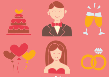 Nice Wedding Element Collection Vectors - Free vector #430929