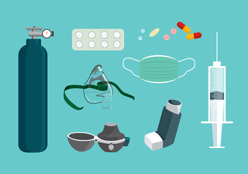 Asthma Equipment Free Vector - vector gratuit #430939