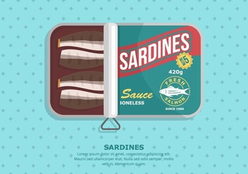 Sardine Background - vector #430989 gratis