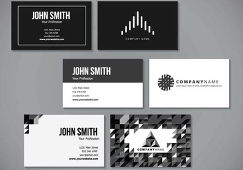 Minimalist Elegant Name Card Design - vector #431009 gratis