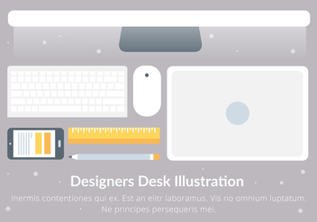 Free Designer's Desk Vector Elements - Kostenloses vector #431039