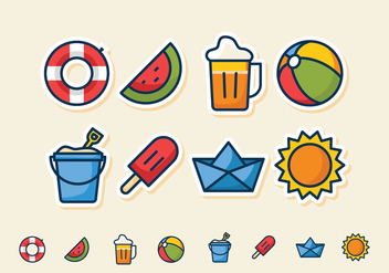Beach Icon Set - Free vector #431049