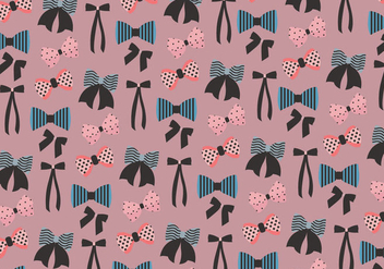 Hair Ribbon Pattern Vector - vector #431059 gratis
