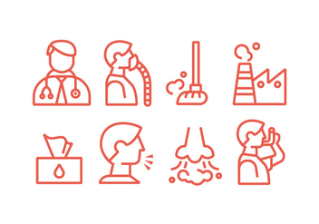 Asthma and Lung Disease Vector Icons - Kostenloses vector #431119