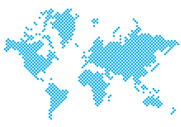 Dotted World Map - vector gratuit #431129