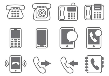 Free Telephone Element Vector - Kostenloses vector #431179