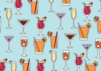 Drinks Pattern - vector gratuit #431189