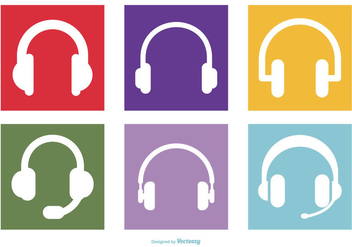 Headphone Icon Collection - Free vector #431219