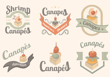 Canapes Food Gourmet Menu Label - бесплатный vector #431249