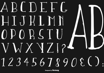 Hand Drawn Alphabet Collection - vector #431269 gratis