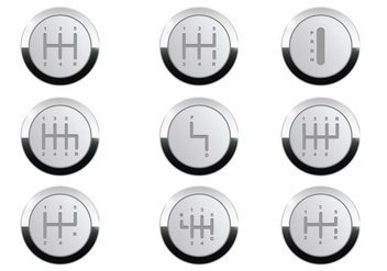Gearbox Button Vector - Free vector #431289