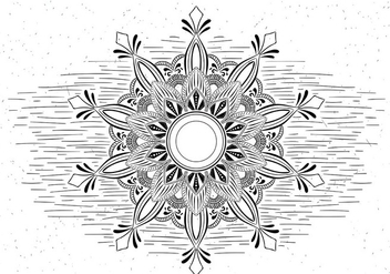 Free Vector Mandala Illustration - Kostenloses vector #431319