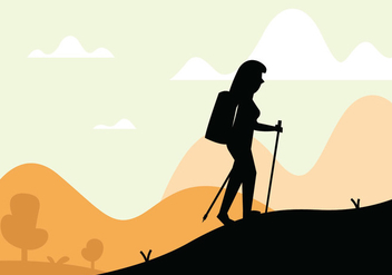 Nordic walking illustration - Free vector #431409