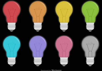 Vector Bulb Icon Set - vector gratuit #431429