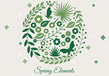 Free Spring Season Decoration Vector Background - Free vector #431459