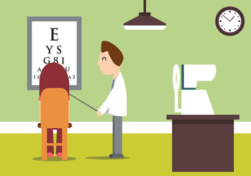 Eye Doctor Vector Illustration - vector #431469 gratis