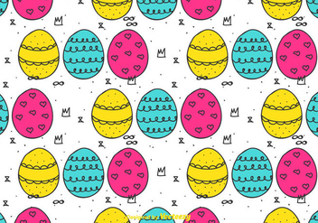 Doodle Easter Eggs Pattern - Free vector #431479