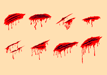 Bloody Scratch Marks Free Vectors - бесплатный vector #431559