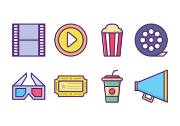 Free Movie Icon Pack - vector gratuit #431589