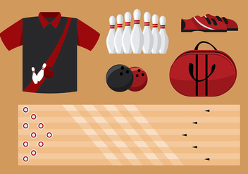 Bowling Equipment Free Vector - бесплатный vector #431609