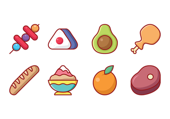 Free Food and Fruit Icon Set - бесплатный vector #431629