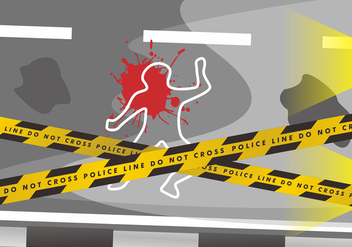 Crime Scene Danger Tapes Vector Design - Free vector #431649