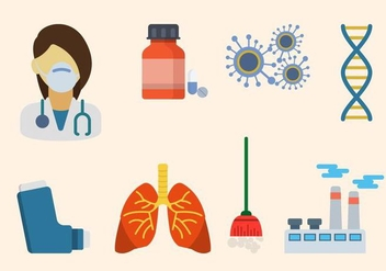 Flat Asthma Vector - Free vector #431699